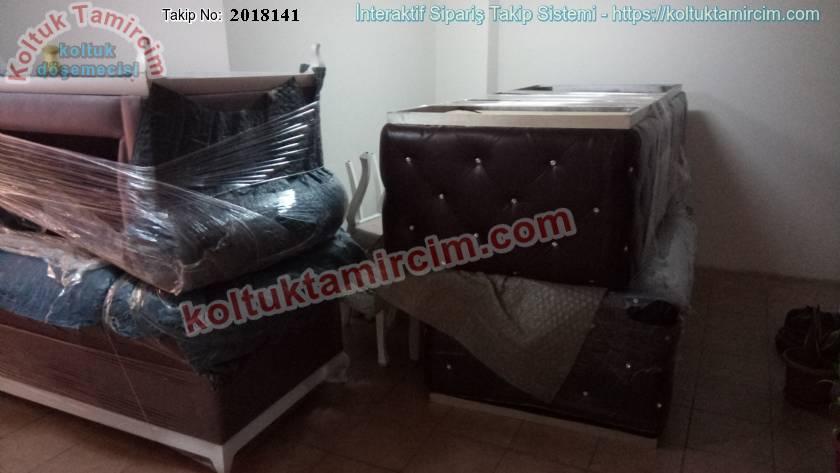 Şanlıurfa Gülşah hanımın 6 adet chester koltukları ve iki adet tekli koltukları kumaş değişimi