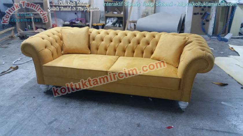 Chester Kanepe Sarı Renk Şık Model